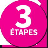 3 étapes